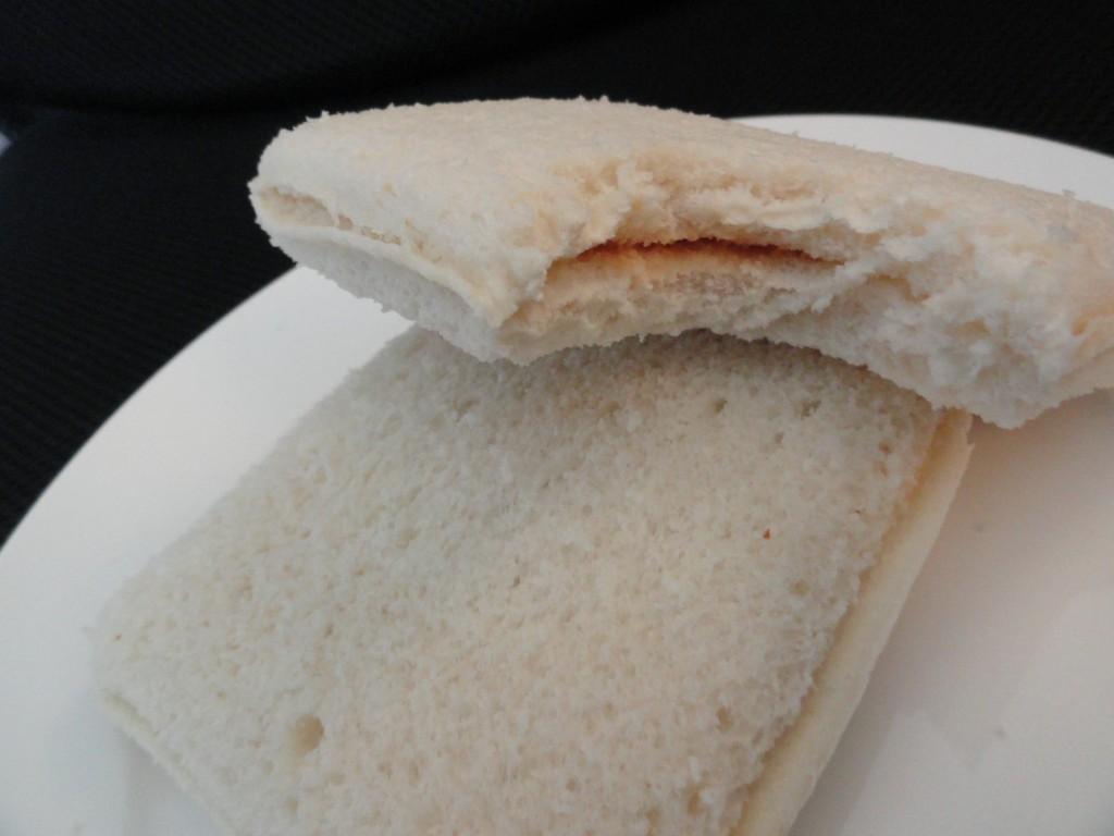 open and bitten sandwich