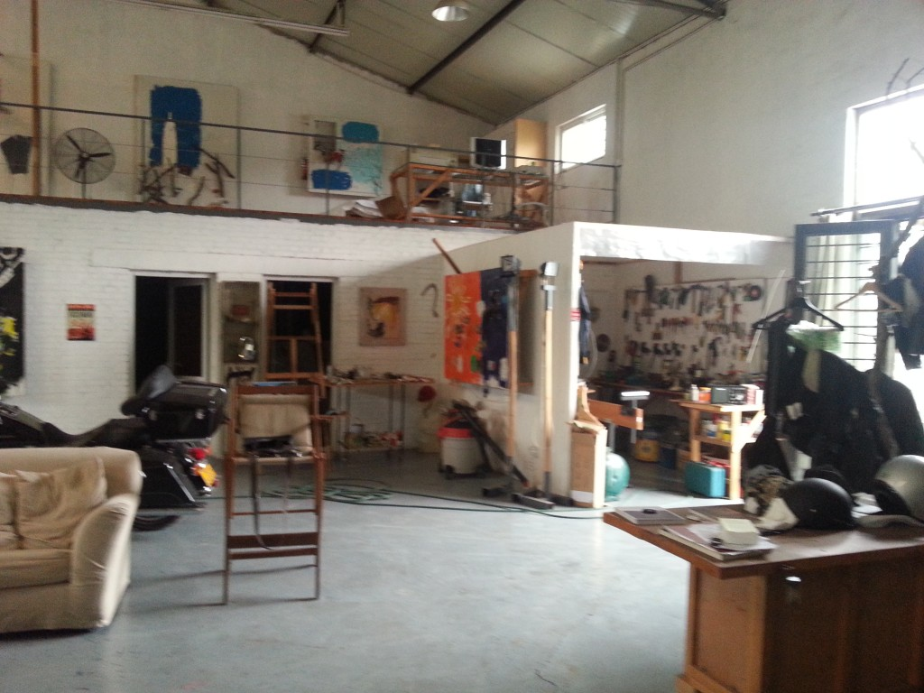 Zhang Wei's studio just outside of Beijing